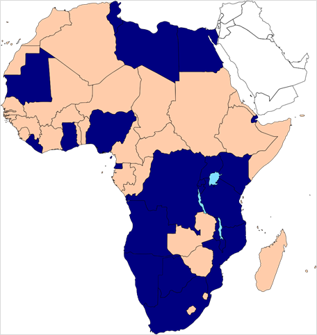 Experience map of Africa
